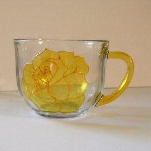 Yellow Rose Tea Cup, Coffee Mug