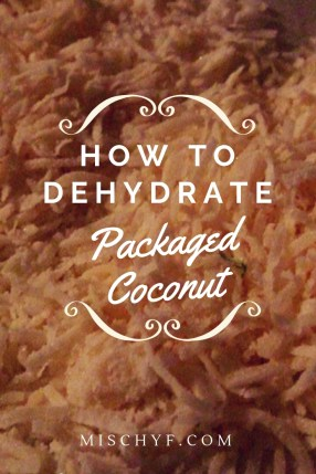 Packaged Coconut - How to dehydrate dry coconut flakes. Dried Coconut. #dried #dehydrate #coconut #snacks #tropical #fruit #recipe
