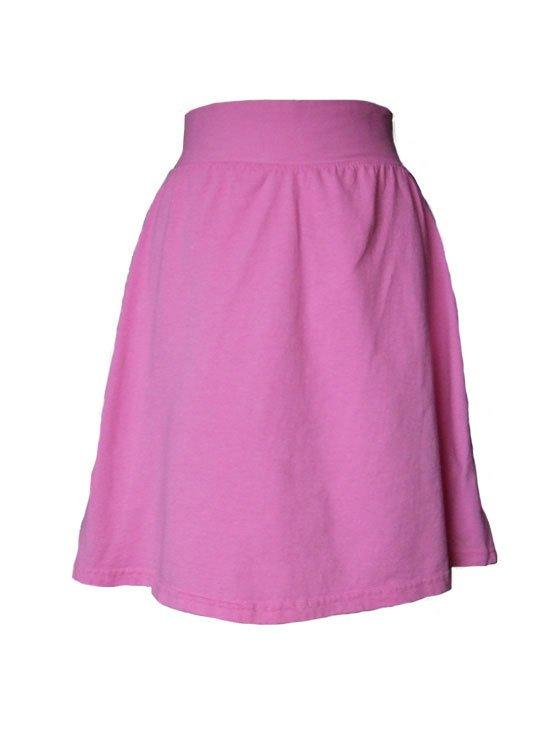 Pink Jersey Knit Skirt