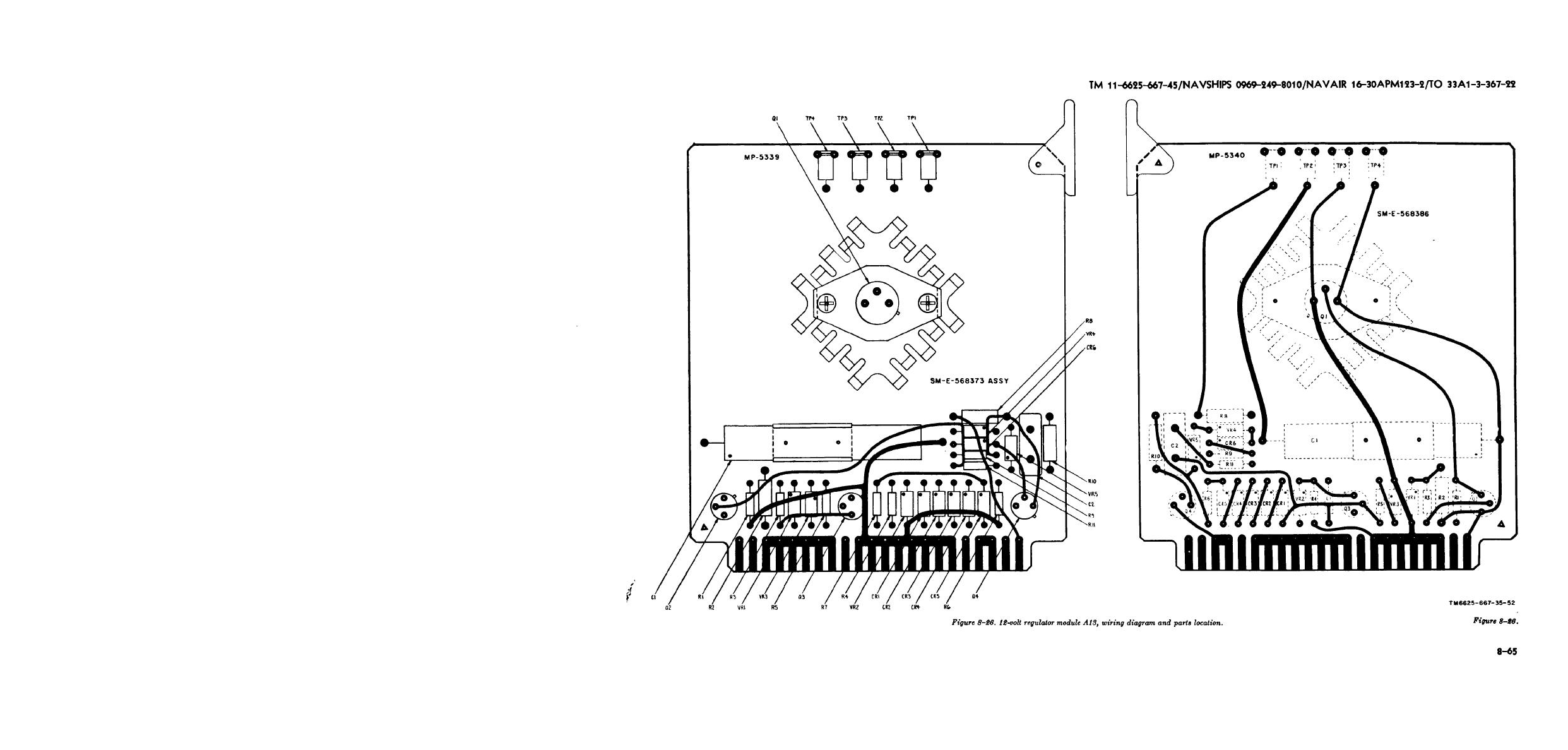 Figure 8 26 12 Volt Regulator Module A13 Wiring Diagram And Parts Location