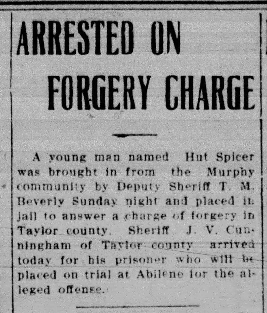 Forgery The_Courier_Gazette_Mon__Jan_21__1907_