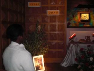 Le moment de la prière à la chapelle.