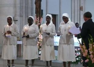 Sr Yvette, sr Véronique de la Sainte Face, sr Bertha et sr Céline