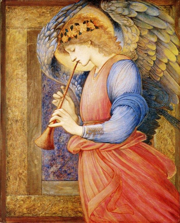 Santos Anjos tocam trombeta