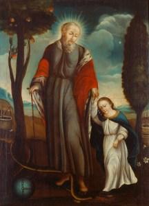 São Joaquim anda com Maria menina