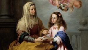 Santa Ana ensina Maria as Escrituras
