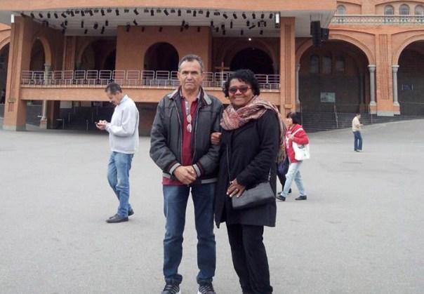 Meus pais no Santuário de Aparecida.