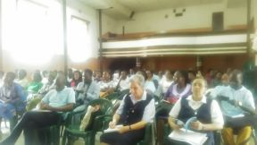 Voluntário ministra palestra para Pastoral da Comunicação em Moçambique