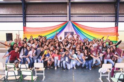 Participantes do Adoração durante o Encontro Thalita Kum em Salto/SP