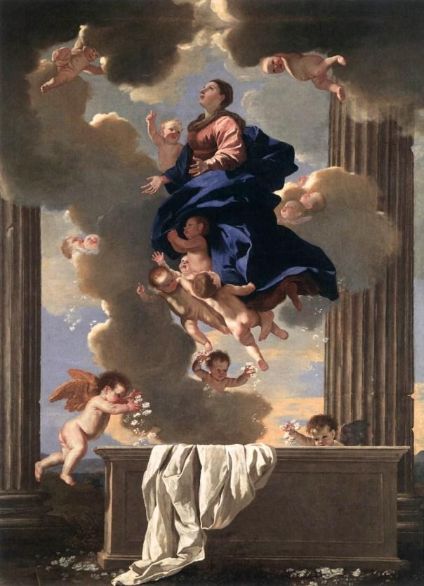 pintura sobre a Assunção de Maria