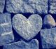 pedra em forma de coração