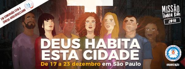 ilustração com sete jovens na cidade