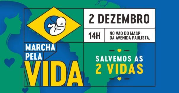 Banner da Marcha pela Vida no Brasil