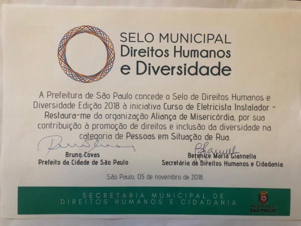 Selo Municipal_de DireitosHumanos e Diversidade