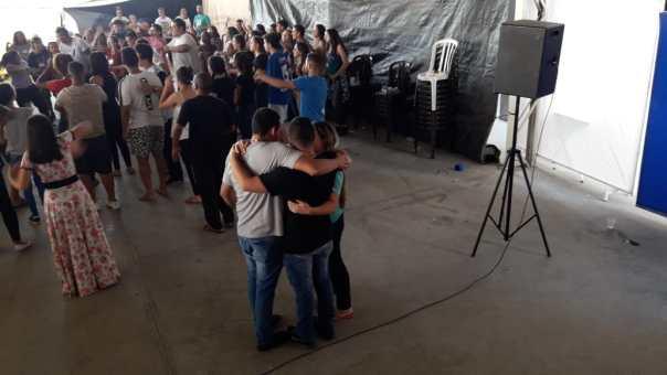 Momento de oração no TK em Sorocaba.