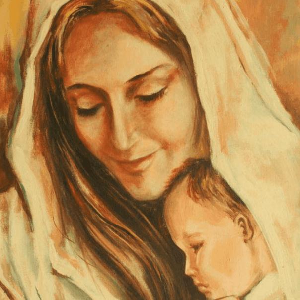 Imagem de Maria com Jesus nos braços