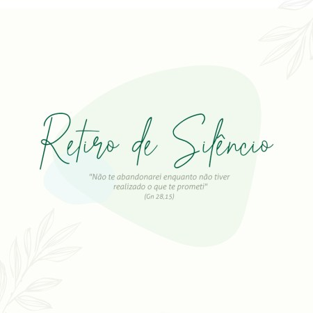Participe do Retiro de Silêncio - Vagas limitadas @ Casa de Formação | São Paulo | Brasil