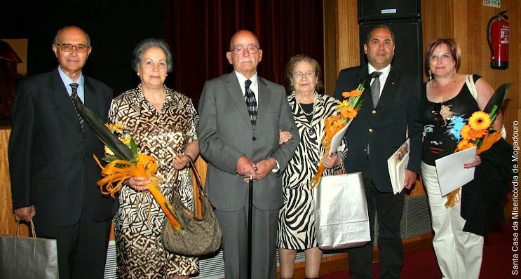 Comemoração dos 450 anos da SCMM: Da Esquerda para Direita: Francisco António Silva, João Lopes da Silva, João Manuel Santos Henriques e digníssimas esposas.