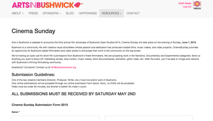 Submissions Open Studios at Shwick for BOS 2015   Arts in Bushwick