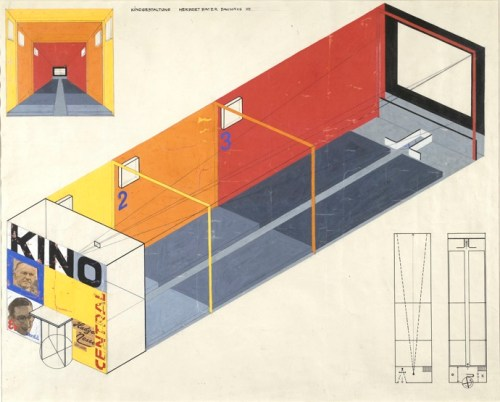Herbert Bayer, Design for a Cinema, 1924-1925