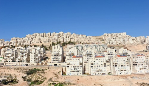 A general view of  Jewish housing in the Israeli settlement Har Homa in the West Bank