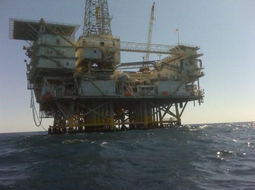 oil rig close