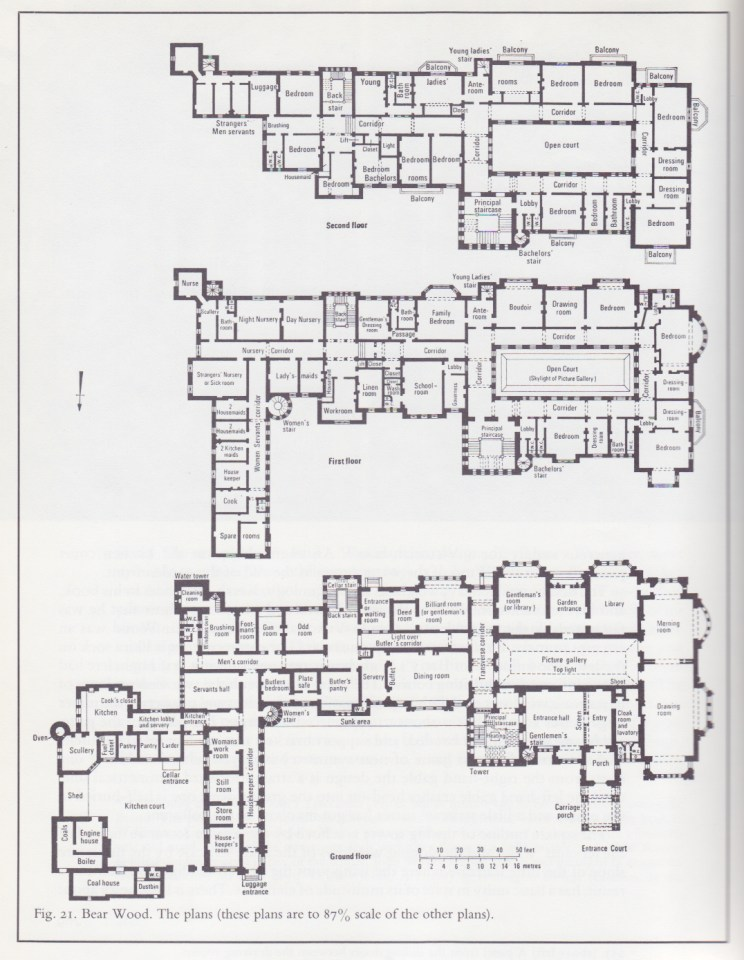 Bear wood plan misfits 39 architecture for Mansion floor plans with ballroom