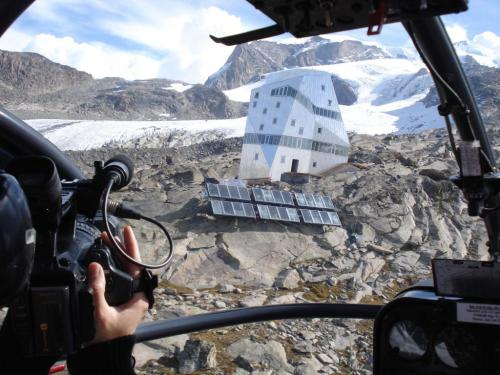 helicopter to new monte rosa hut
