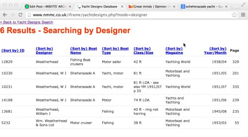yacht design database