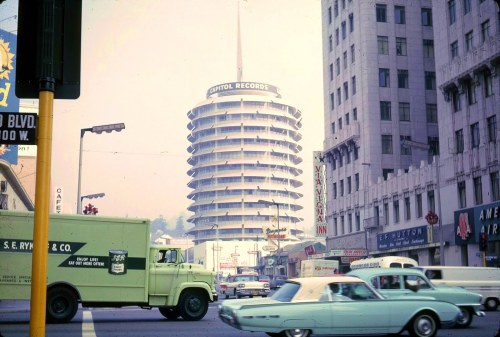 Capitol Records Building and AA Airlines Building from