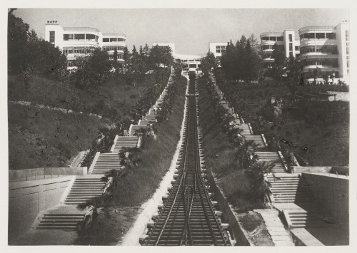 meyer-hannes-exterior-view-of-funicular-railway-tracks-flanked-by-flights-of-stairs-leading-to-voroshilov-sanatorium-sochi-soviet-union-now-in-russia-1930.jpg