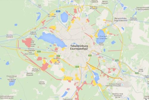 Yekaterinburg dacha belt