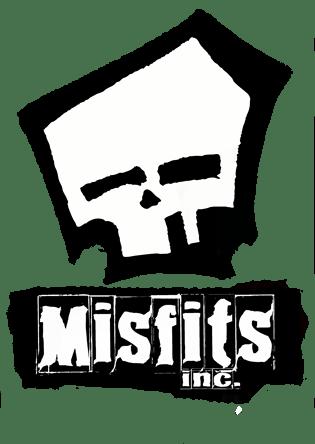 Misfits inc skull logo clothing skull hoodies black white