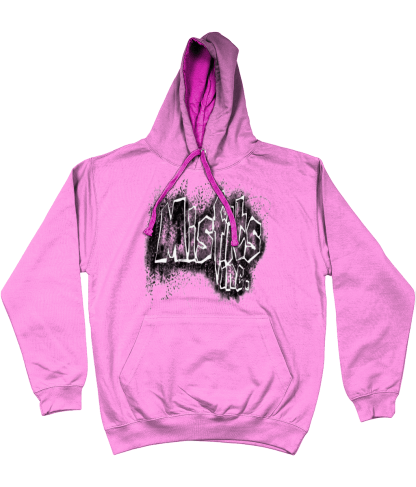 Misfits Inc Hoodie, Hooded Top, Hooded Sweater, Pink Hoodie, Hoodies, Stencil Design,