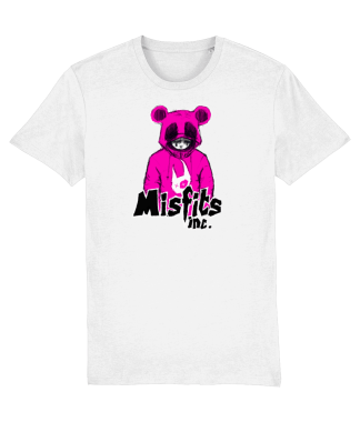 White T-Shirt 'Sugar Pop' in Pink Panda T-Shirt – Organic Cotton – Misfits inc