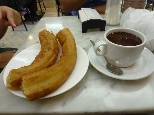 Chocolate con porras en Chocolatería San Gines