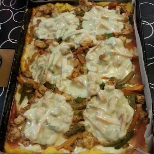 Como hacer polenta a la pizza