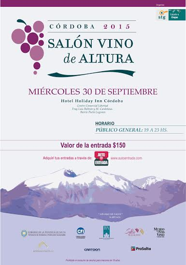 5° Salón Vino de Altura en Córdoba