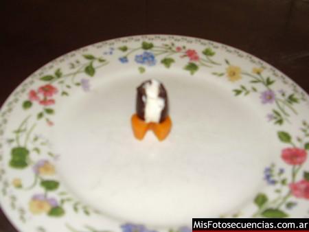 Pingüinos con aceitunas negras