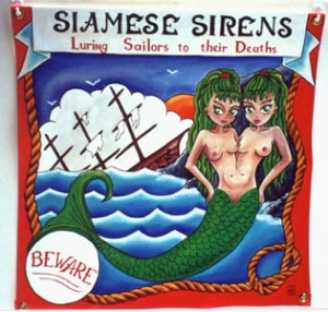 Siamese Sirens Side Show Banner
