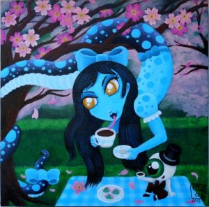 Nura-Onna-with-Tea-Cherry-Blossoms