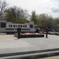 Почетный караул. Митинг Гуково 08.05.15