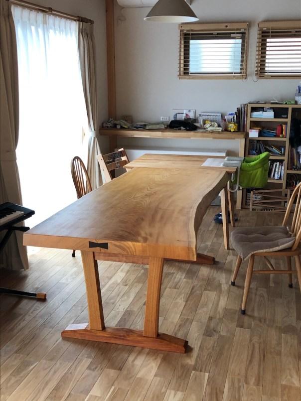 設置したテーブル