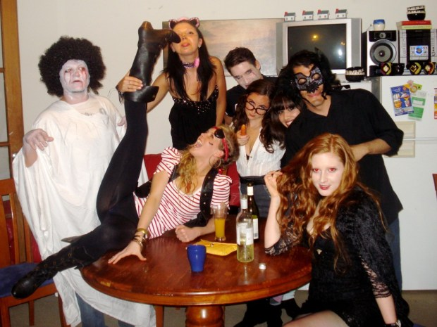 Housemates in costume for Hallowen in Sydney