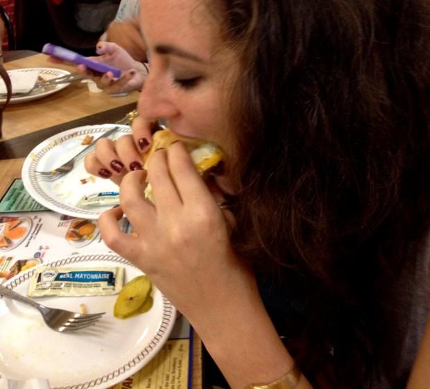 Eating at Waffle House