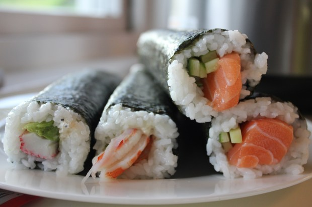 uncut sushi rolls specific to Australia