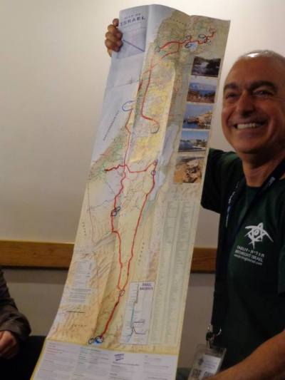 Map of Birthright trip route