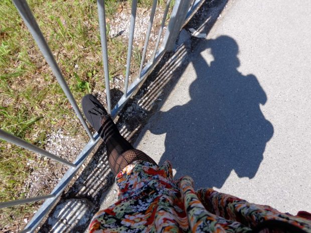 Foot selfie at the castle in Fussen, Germany