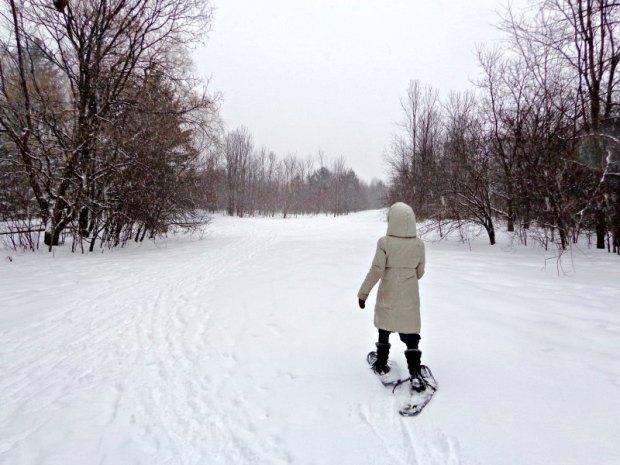 Snowshoeing in Ottawa at Christmas