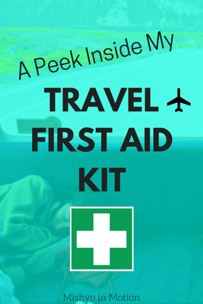 What to take in your first aid kit when you go traveling abroad.